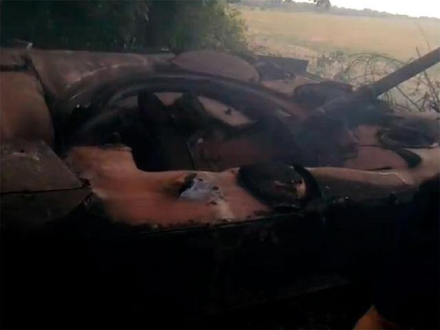 Силы АТО под Стахановым уничтожили БМД террористов [Фото]
