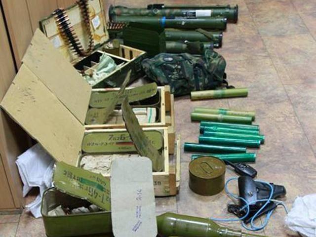 СБУ задержала боевиков с большим арсеналом оружия [Фото]