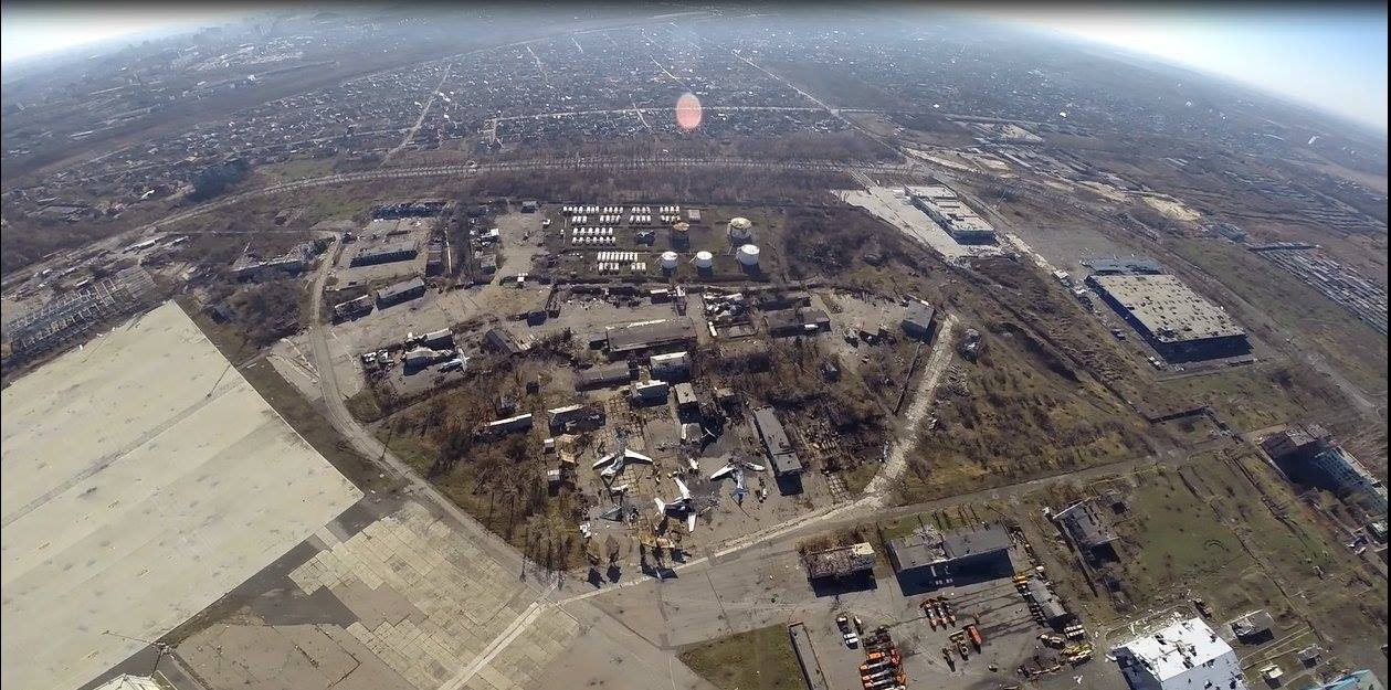Как выглядит Донецкий аэропорт с высоты птичьего полета [Фото]
