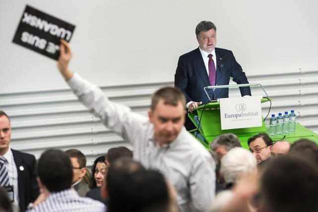 Выступление Порошенко в Цюрихе пытались сорвать пропутинскими выкриками