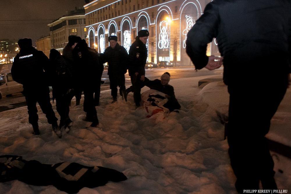 В Москве задержали 11 человек, которые вышли на акцию поддержки Савченко