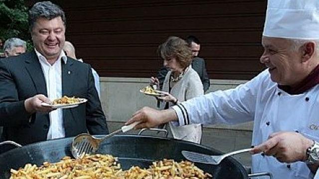 Картинки по запросу Порошенко ест - фото