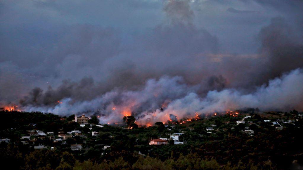 Пожар вокруг Афин