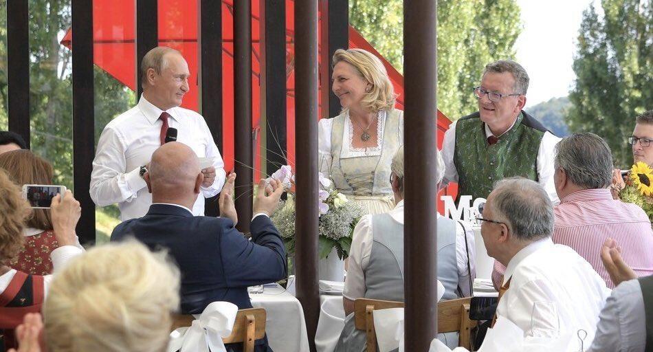 Путін на весіллі Кнайсль