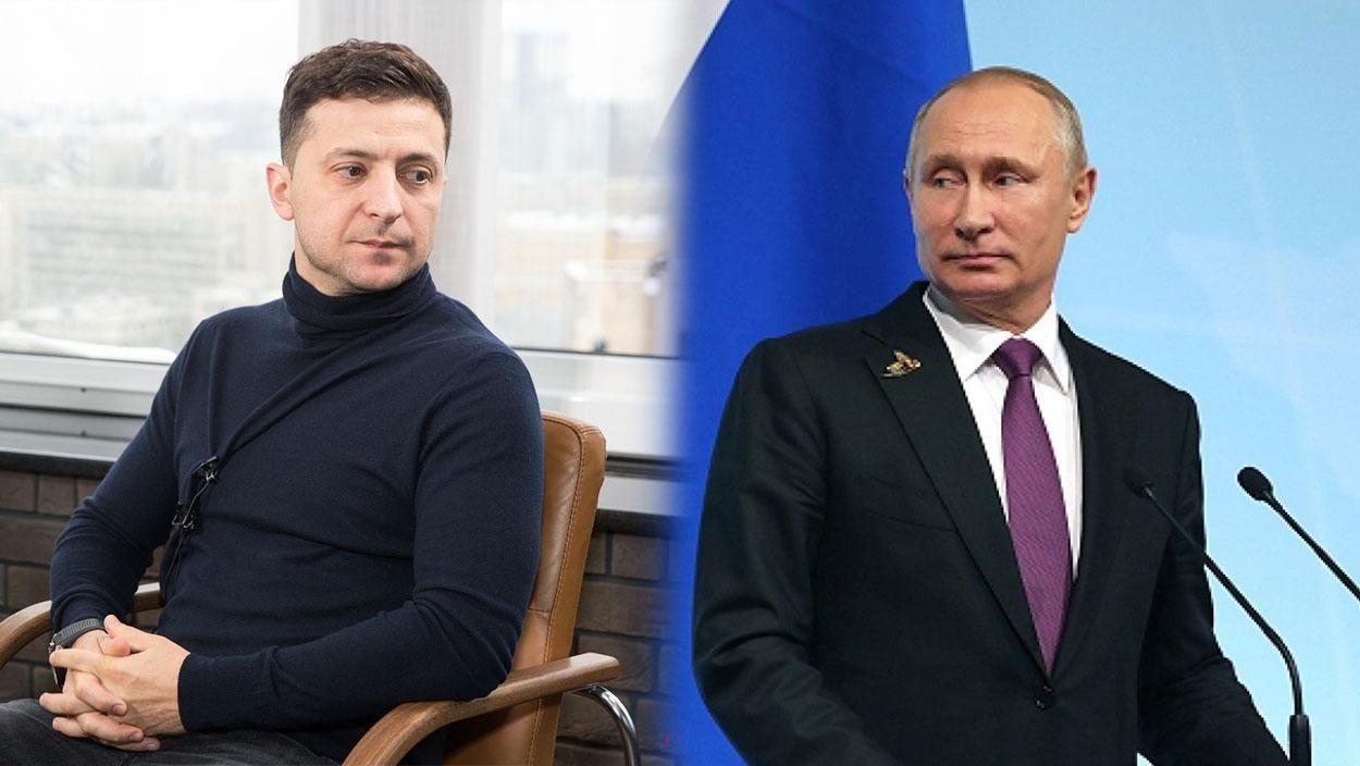 «Неследует говорить сУкраиной наязыке угроз»: Зеленский впервые обратился кПутину