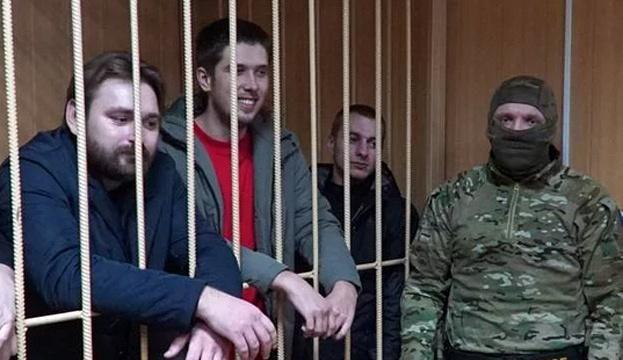 украинские моряки в плену России