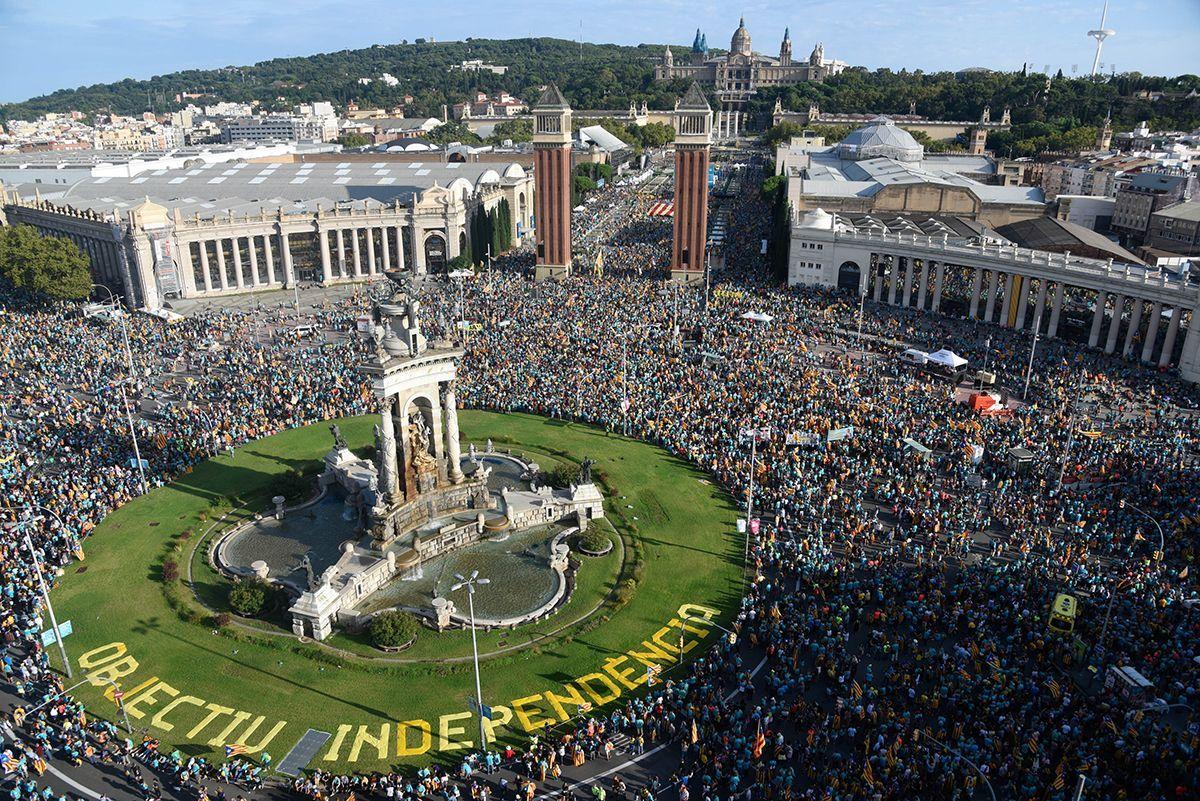 У Барселоні понад півмільйона людей вийшли на мітинг за незалежність К