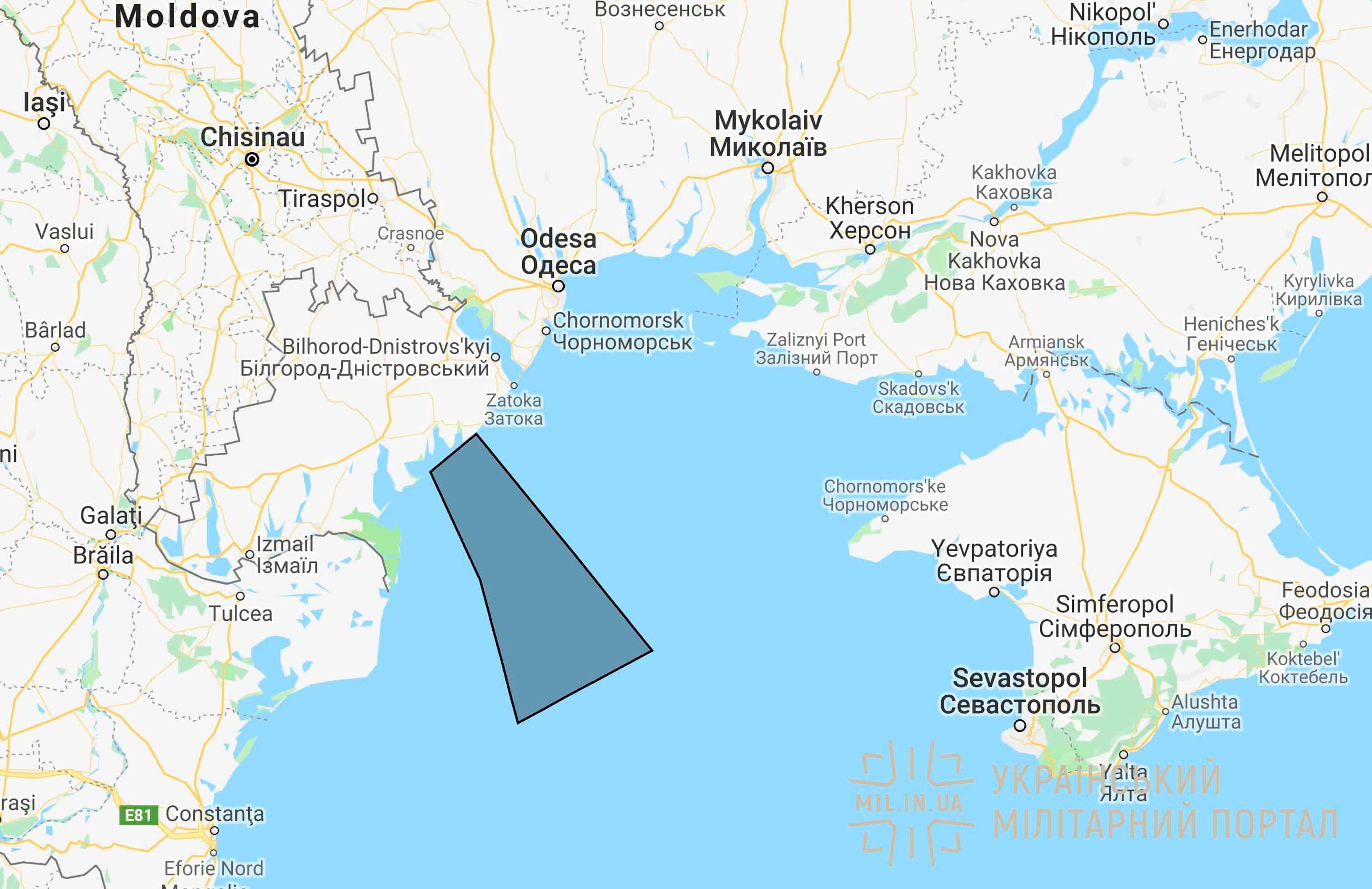 Район ракетних стрільб на Одещині 4 та 5 жовтня 2019 року