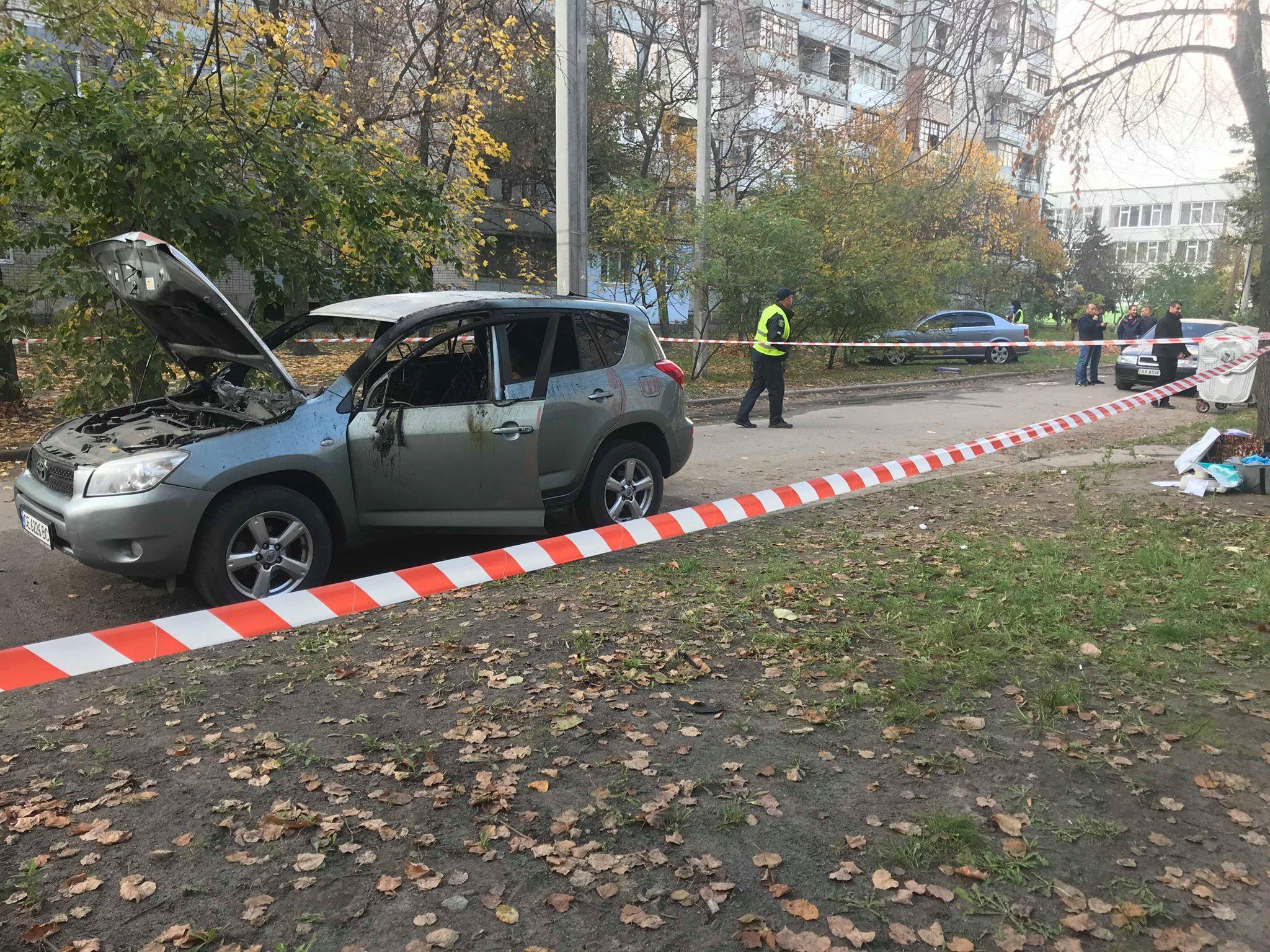 спалене авто нападника Харків