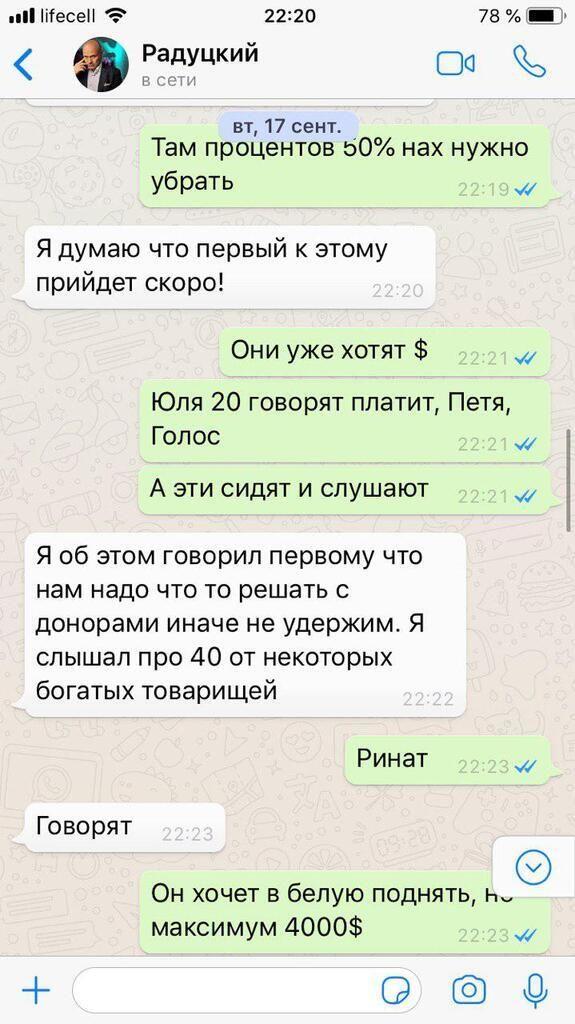 Радуцький листування пранкер зарплати в конвертах депутати