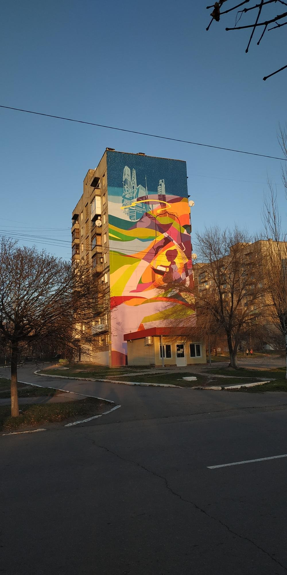 мурал Торецьк фото Донеччина звільнене від бойовиків місто