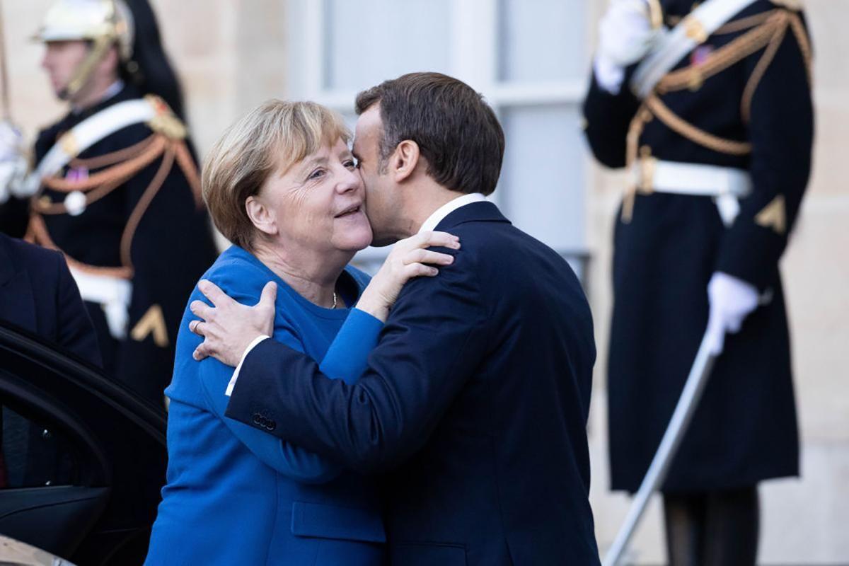 Меркель Макрон нормандский саммит фото