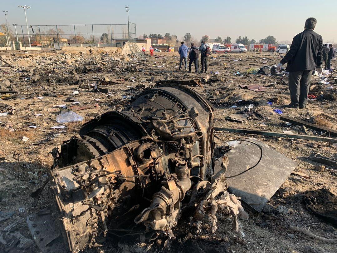 Авіакатастрофа літака МАУ Іран фото з місця аварії