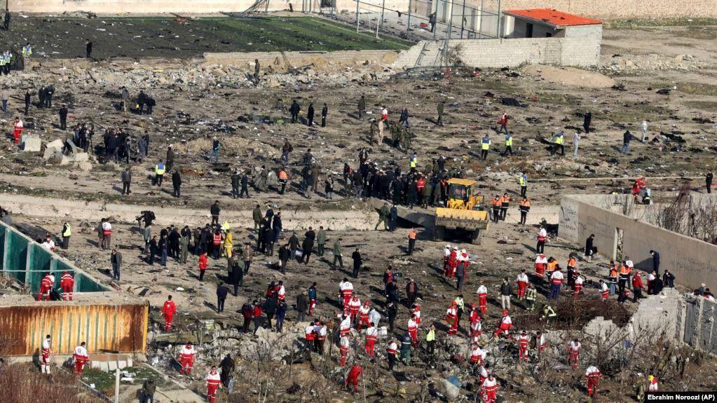 місце падіння літака МАУ в Ірані уламки розслідування катастрофи