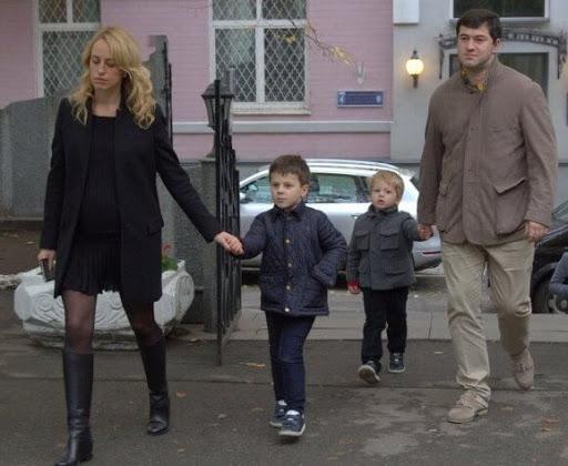 Насіров з дружиною Катерина та синами
