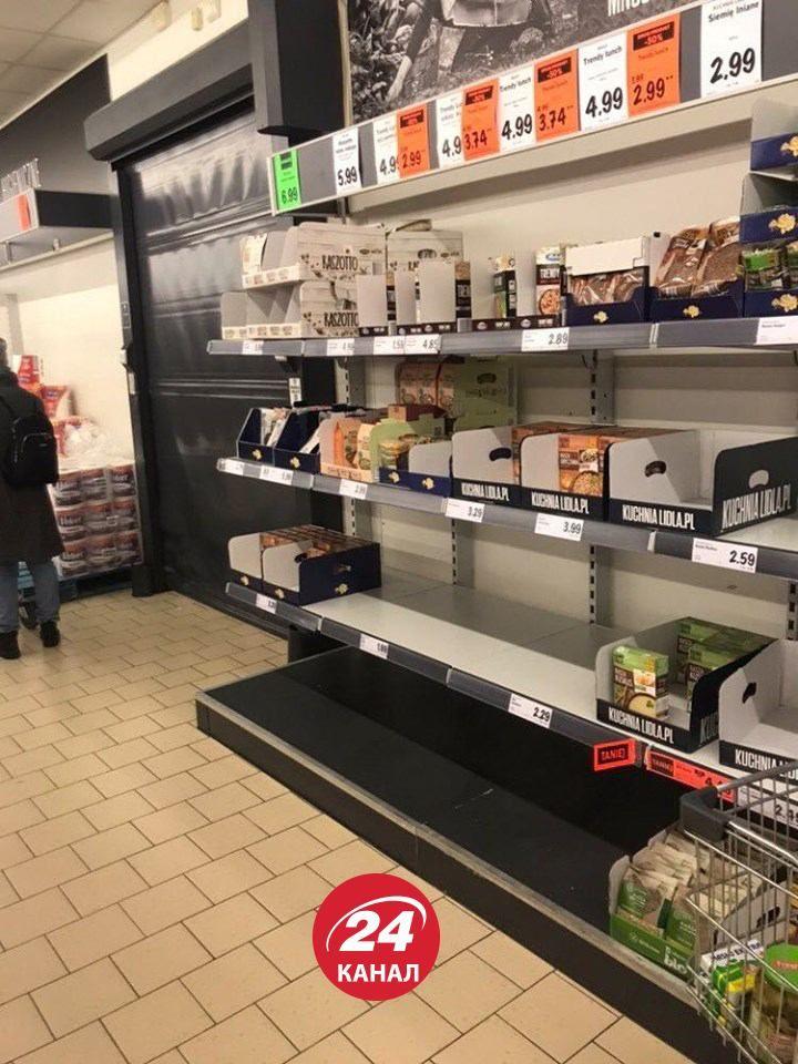 Карантин у Польщі магазини Варшава