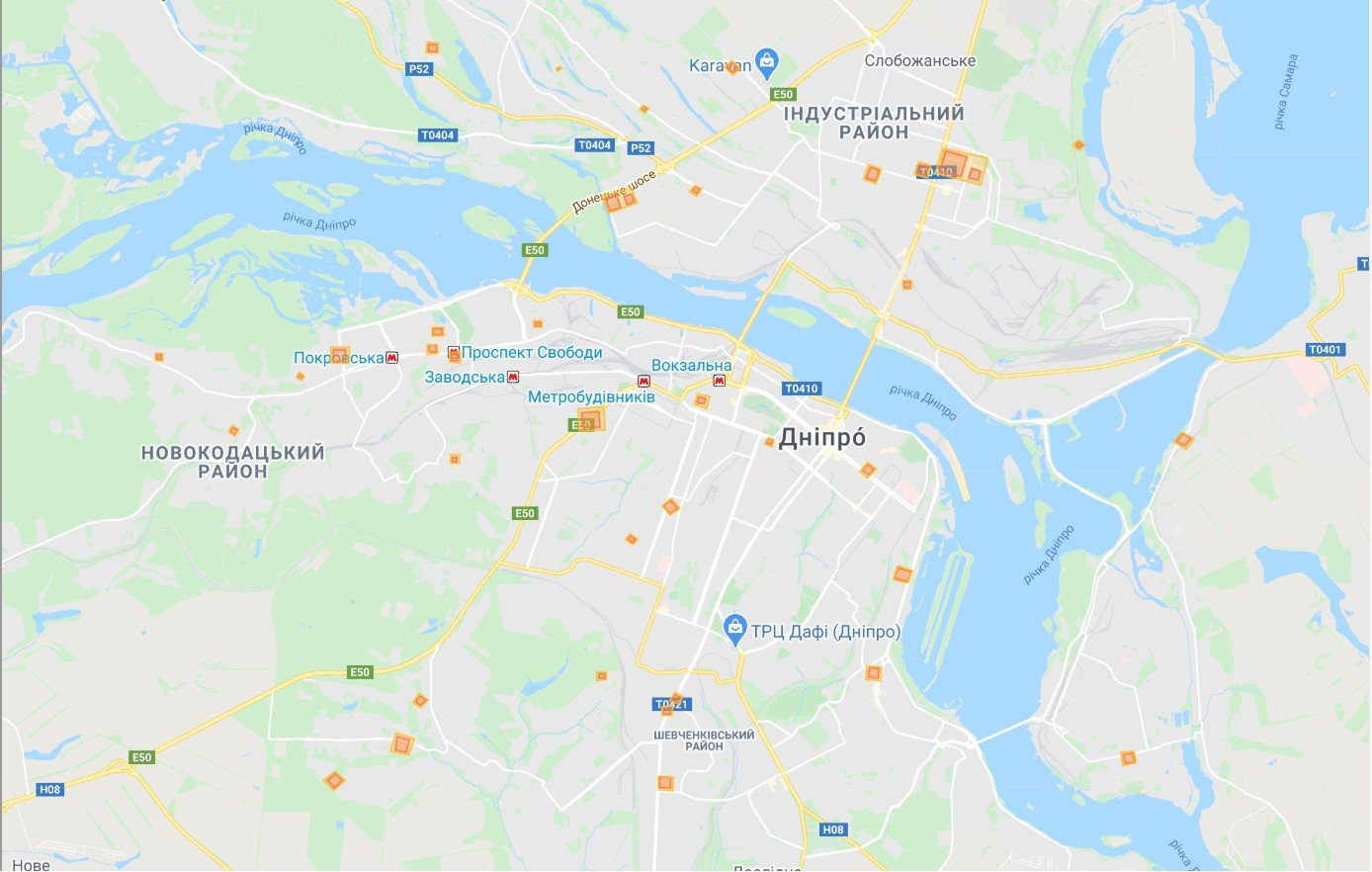 Дніпро інтерактивна мапа коронавірус