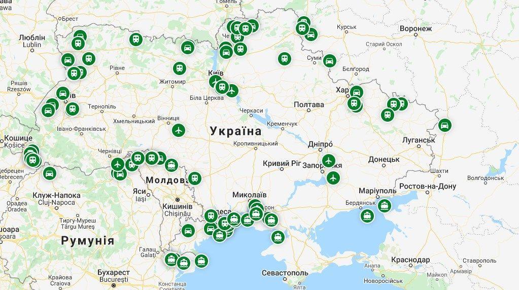 На карті – усі пункти пропуску