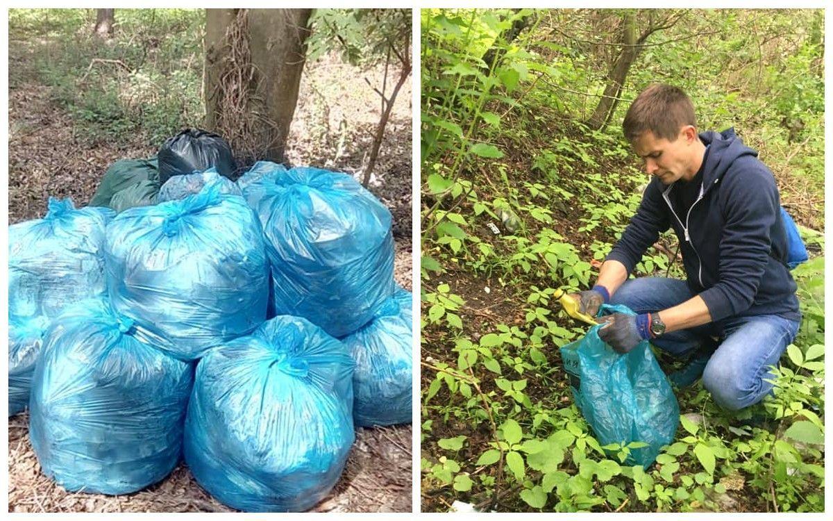 Украинец собрал 2,5 тонны мусора за время карантина: впечатляющие фото - Новости Киев - 24 Канал