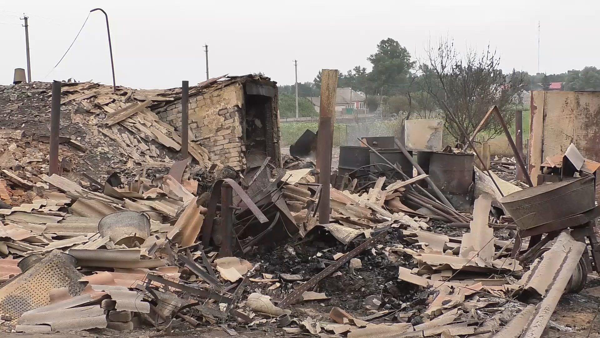 Жители Луганщины оправляются от пожаров - фото видео - 24 канал
