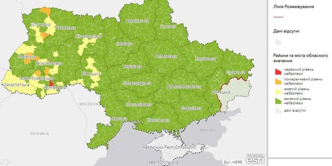 поділ України на зони
