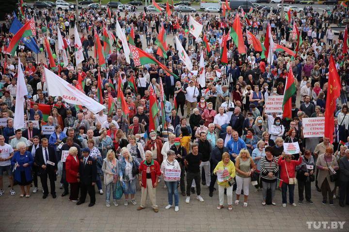 Провладний мітинг у Білорусі