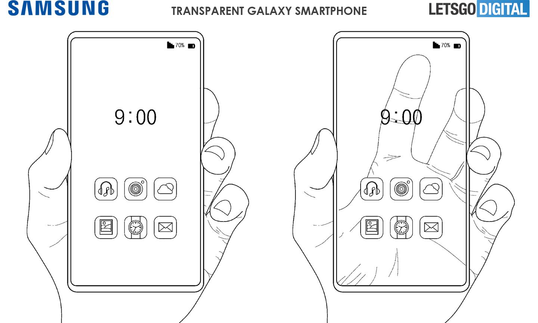 Samsung запатентовал прозрачный смартфон с OLED-дисплеем