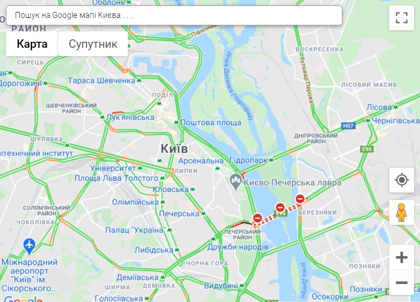 затори в Києві, 1 листопада
