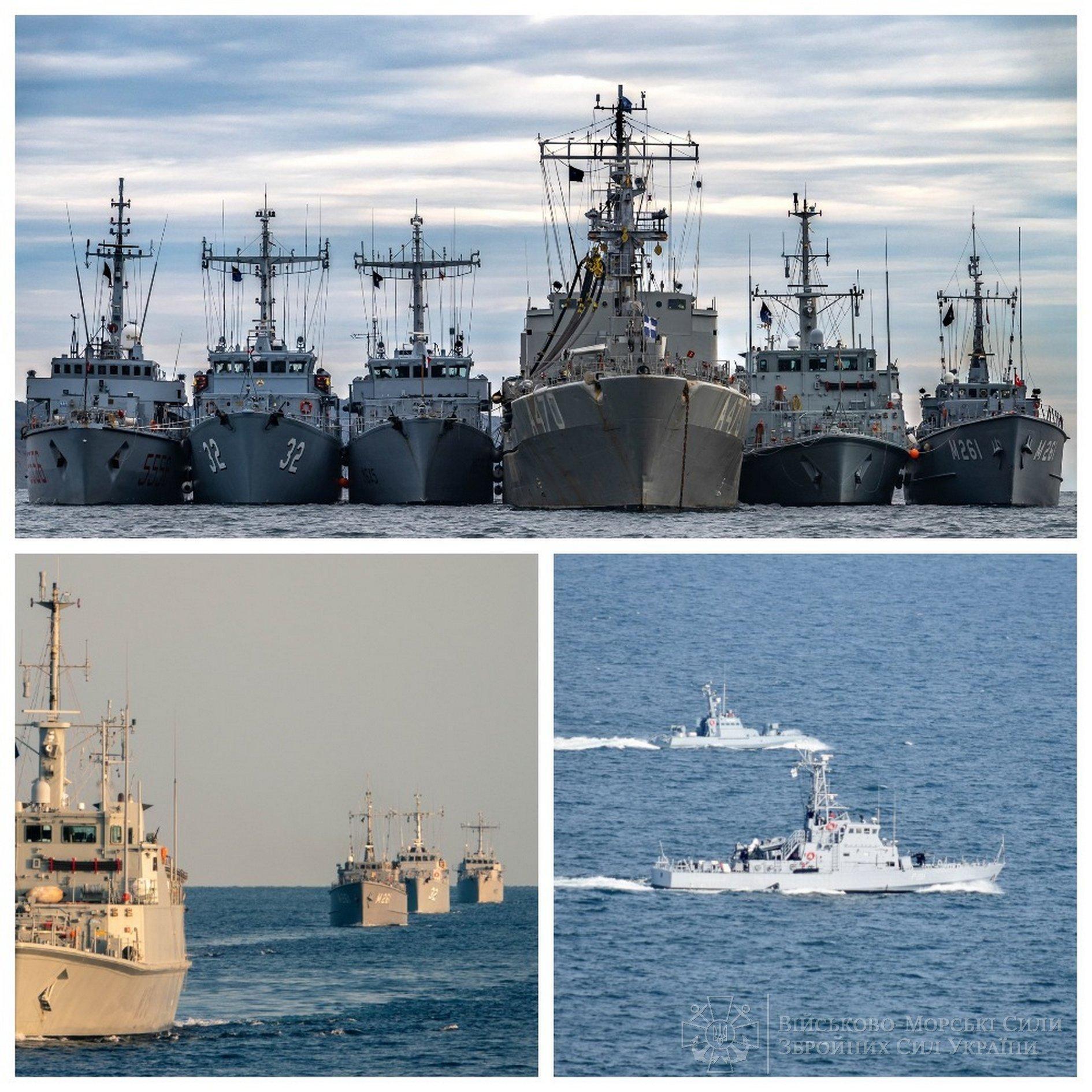 Тренування українських кораблів за кораблями НАТО