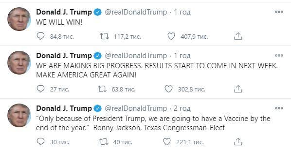 Заява очільника США Дональда Трампа