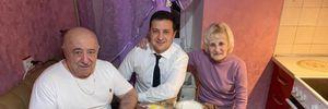 Зеленский посетил родной Кривой Рог и встретился с родителями: фото
