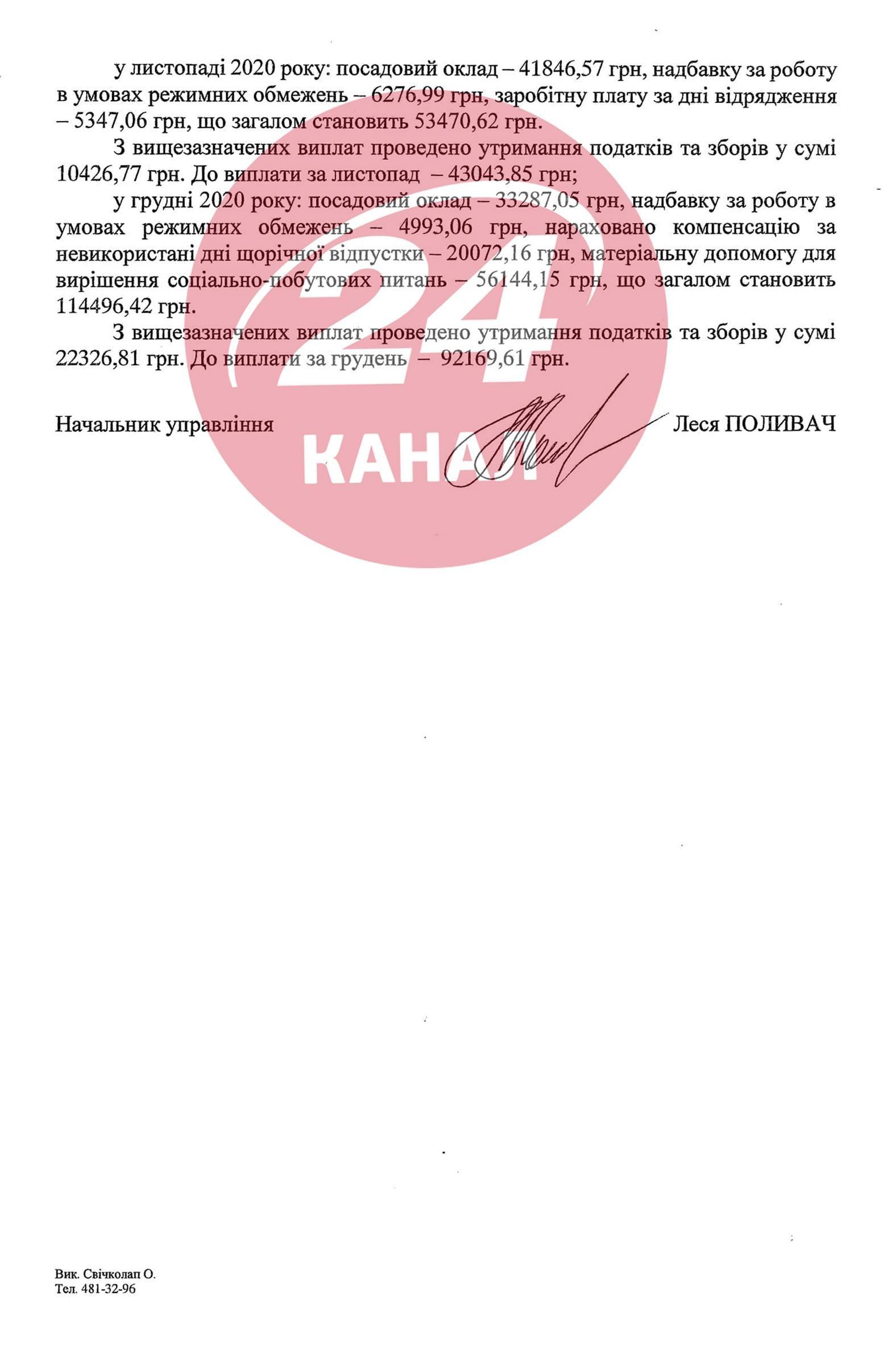 зарплата Сергія Шкарлета у 2020