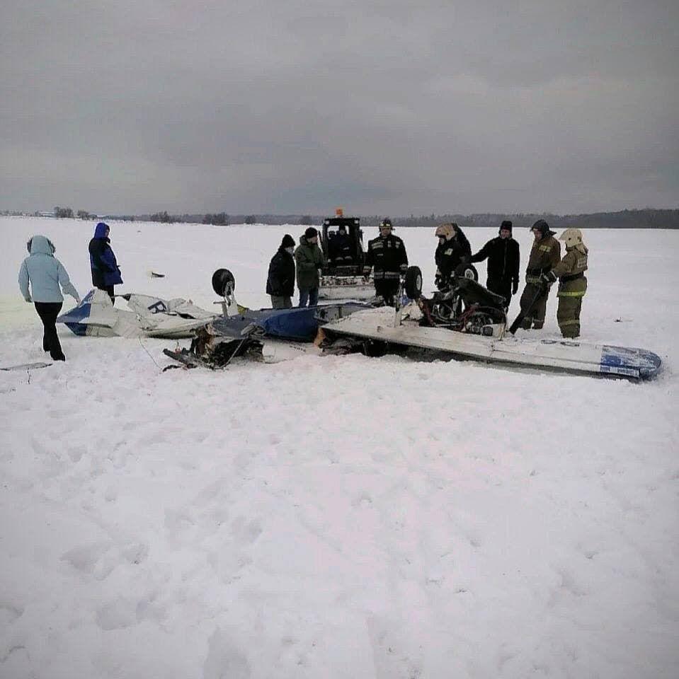 У Росії впав легкомоторний літак