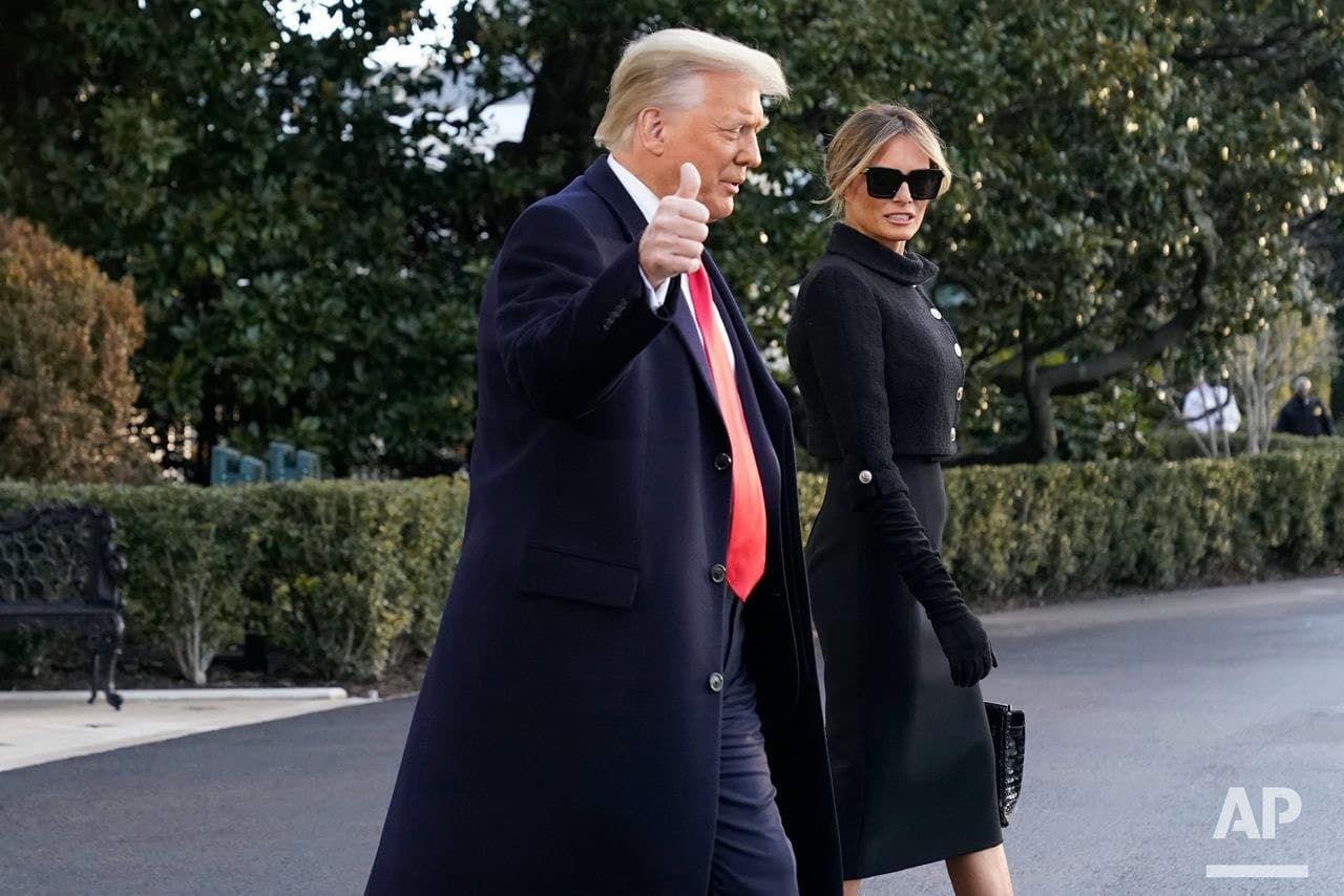 У прощальній промові Трамп подякував своїй родині