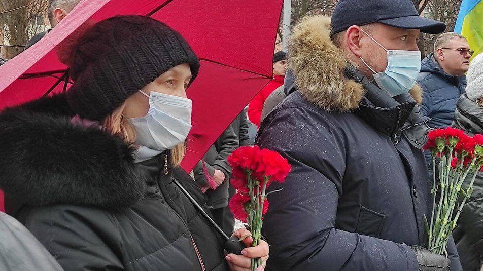Вшанувати пам'ять прийшли кілька десятків харків'ян