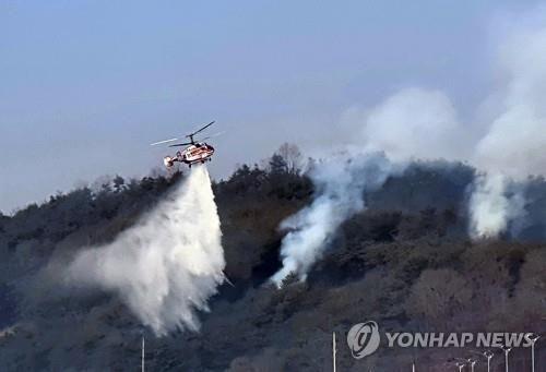 Пожежі гасили за допомогою авіації