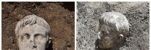 В Италии археологи откопали мраморную голову первого римского императора