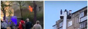 Пожар во Львове возле мотозавода: людей снимают вышкой с 9 этажа – фото, видео