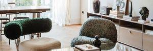 Зелена стеля, мармур та рожева підлога: квартира у Варшаві в стилі модернізм – фото інтер'єру