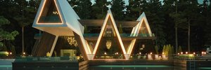 Приваблива геометрія: проєкт резиденції у формі намету на березі річки