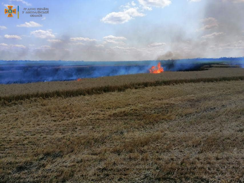 На Миколаївщині спалахнула пожежа
