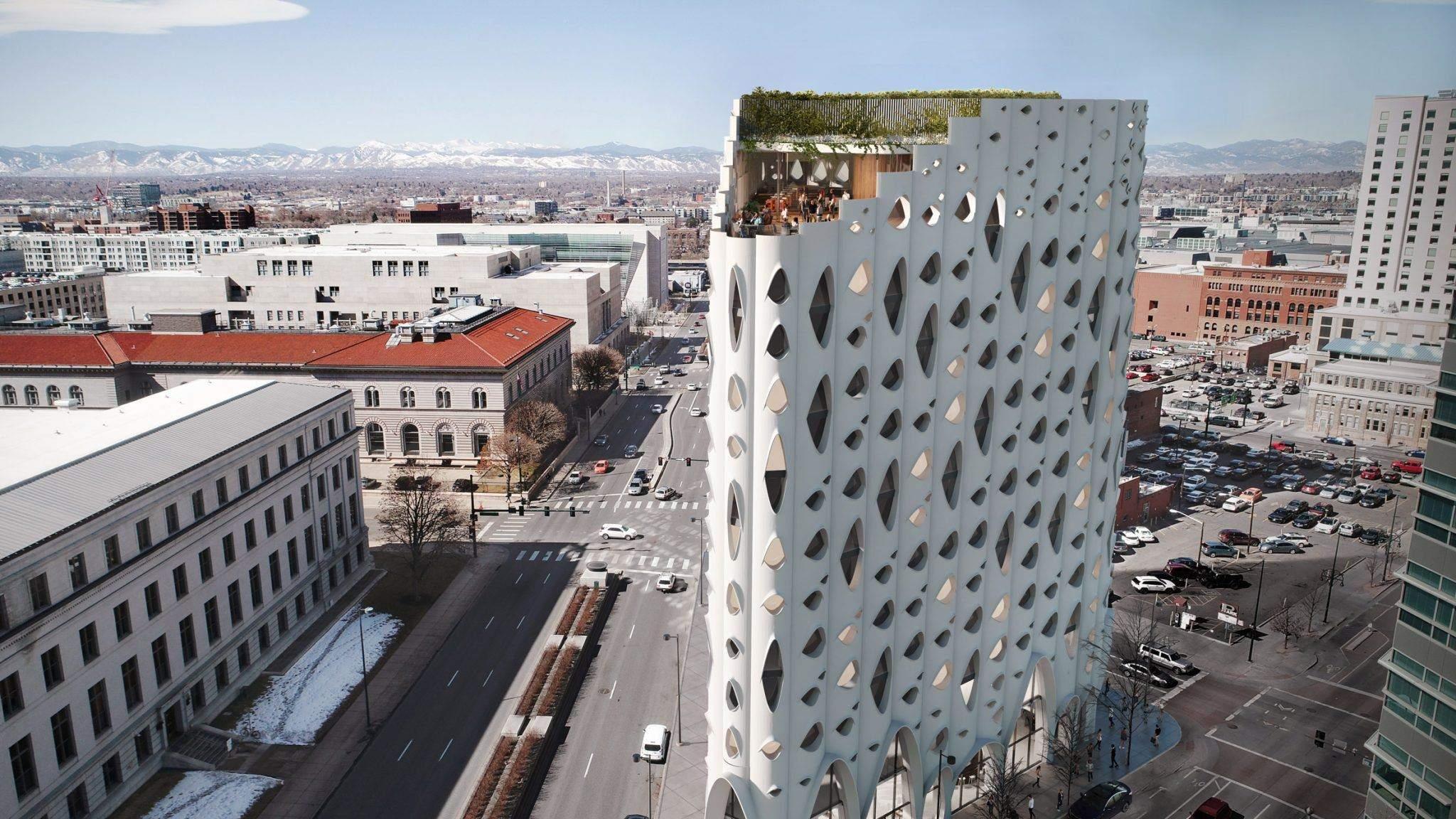 Готель буде побудований на кутовій ділянці в центрі Денвера / Фото Dezeen
