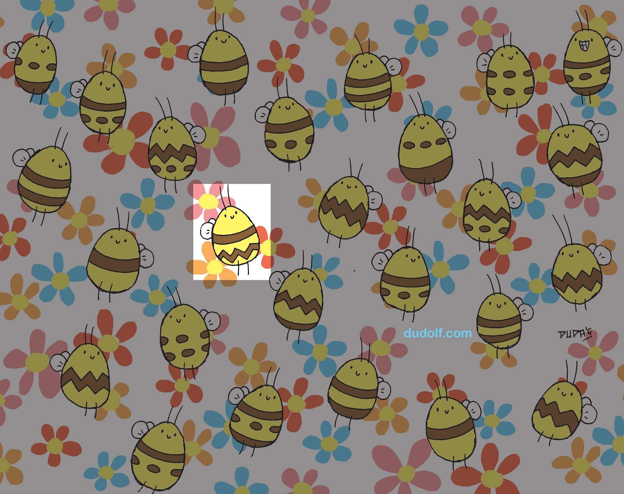 Завдання знайти бджолу з унікальним візерунком