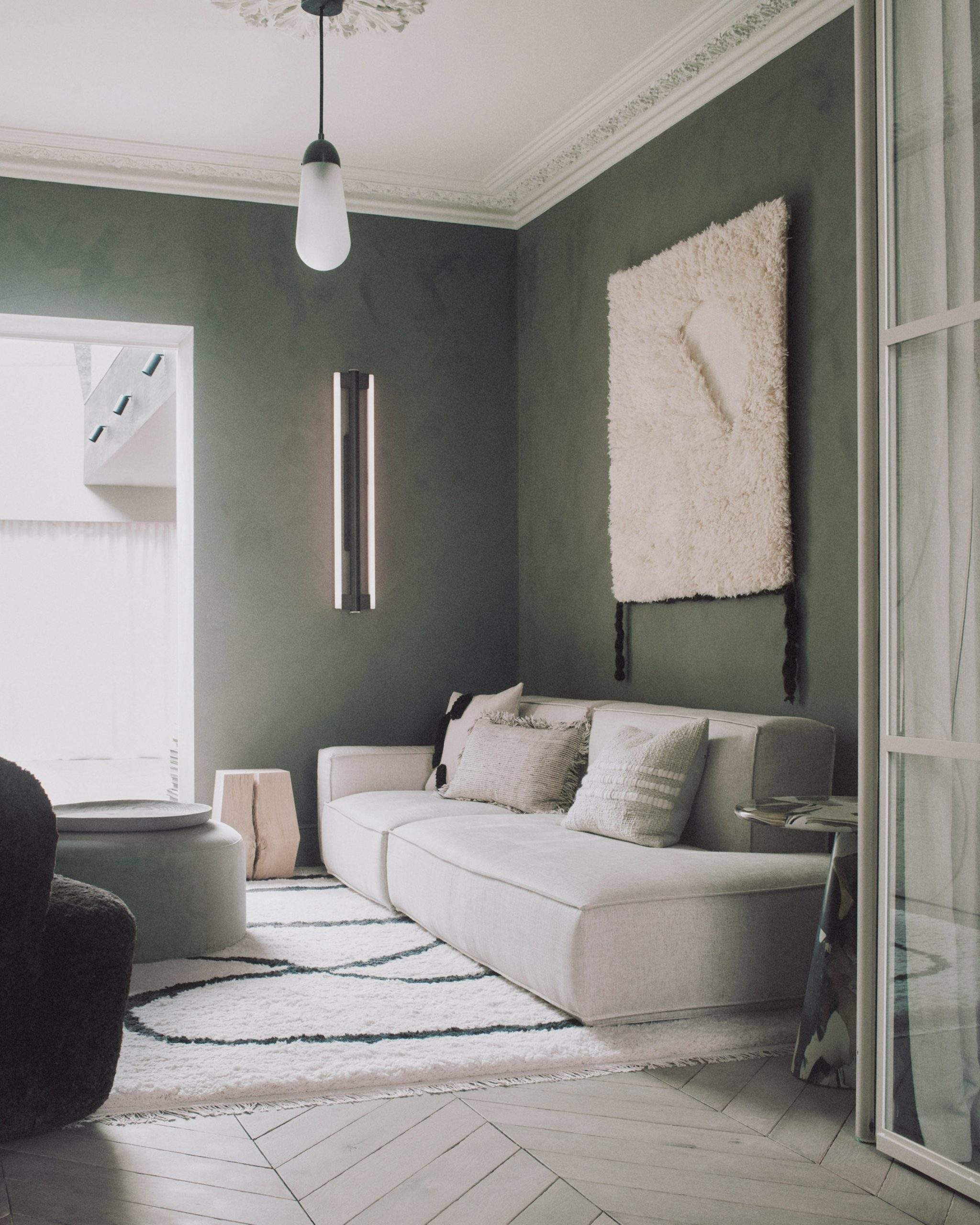 Шавлієво-зелений колір в інтер'єрі