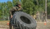 Кросфит по-армейски: нацгвардейцы устроили масштабные соревнования на Киевщине