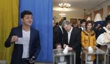 Как Петр Порошенко и Владимир Зеленский голосовали во втором туре: фото и видео