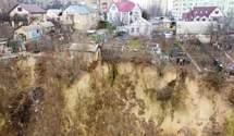 Оползни в Киеве: дома в центре могут оказаться в овраге
