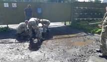Зеленський ні до чого, – військові про вигрібання води з калюж у Луцьку перед візитом президента