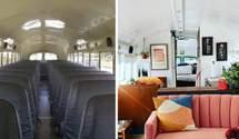 Женщины превратили грязный школьный автобус в уютный дом: удивительные фото