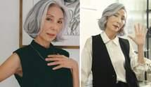 Женщина стала моделью после выхода на пенсию: как ей это удалось